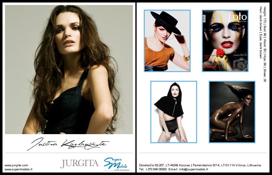 Justina Kazlauskytė composite card