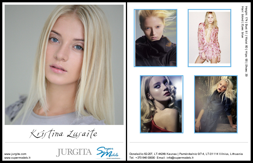 Kristina Lusaite composite card