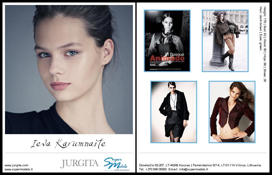 Ieva Karumnaite composite card