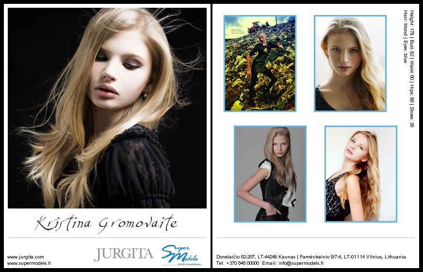 Kristina Gromovaite composite card