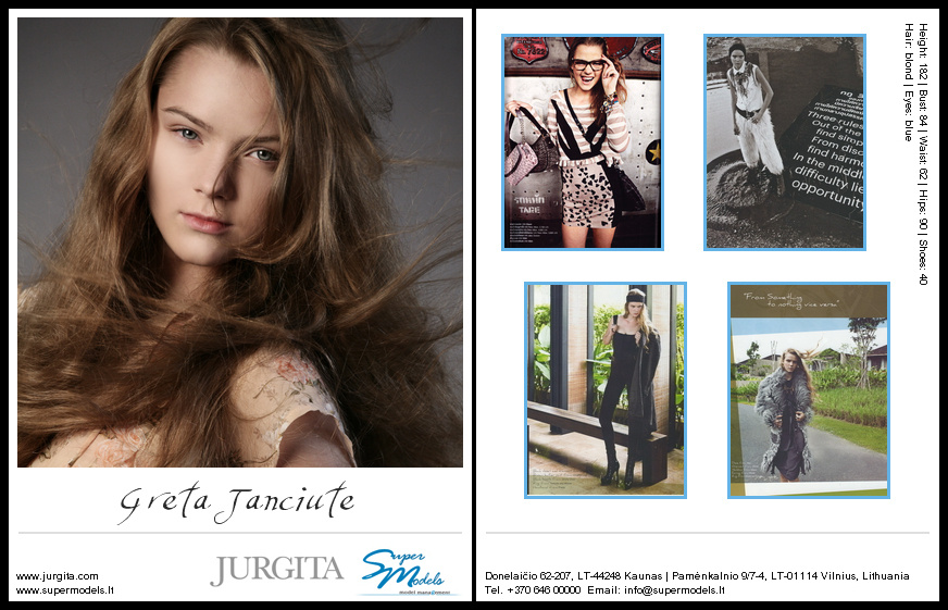 Greta Janciūtė composite card