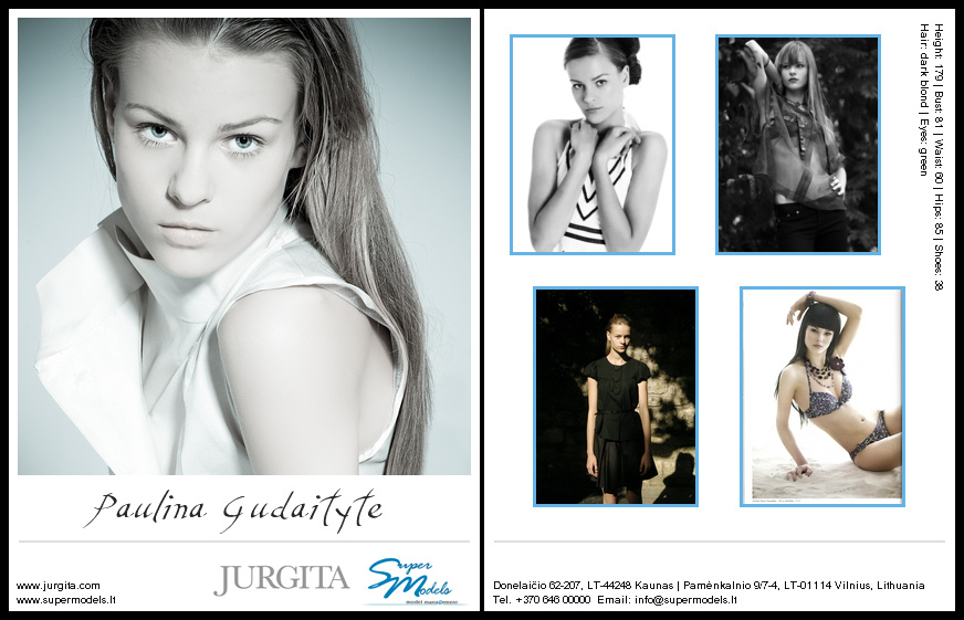 Paulina Gudaityte composite card