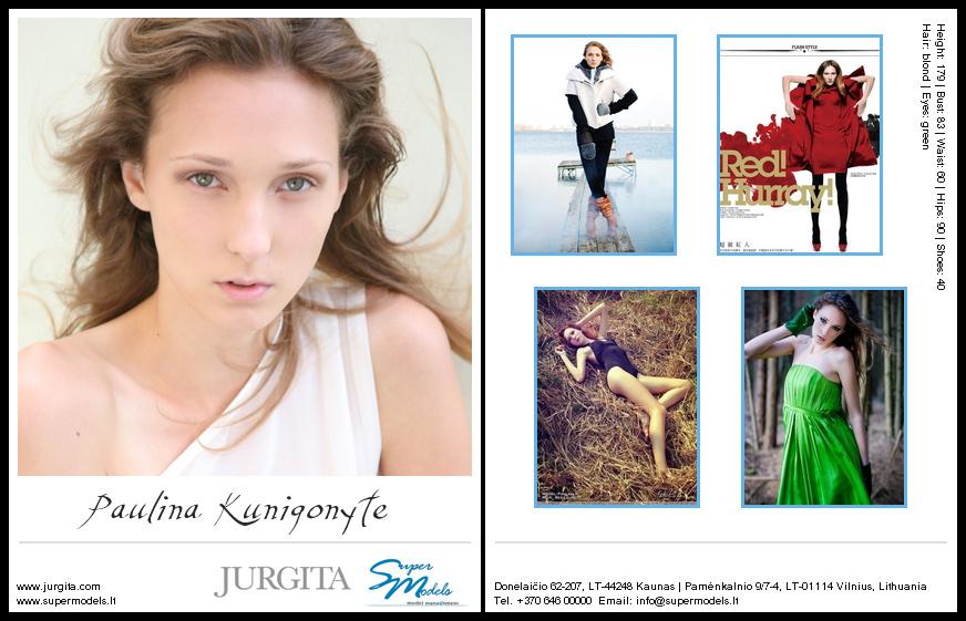 Paulina Kunigonytė composite card