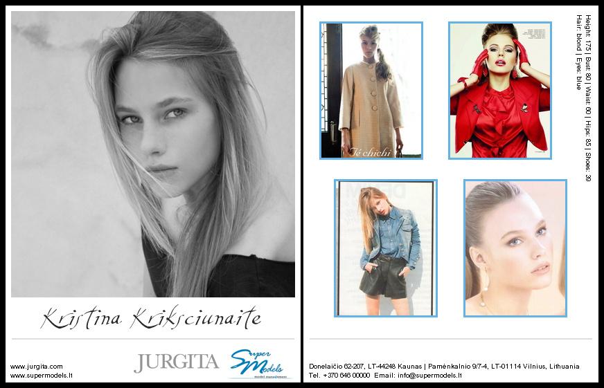 Kristina Krikščiūnaitė composite card