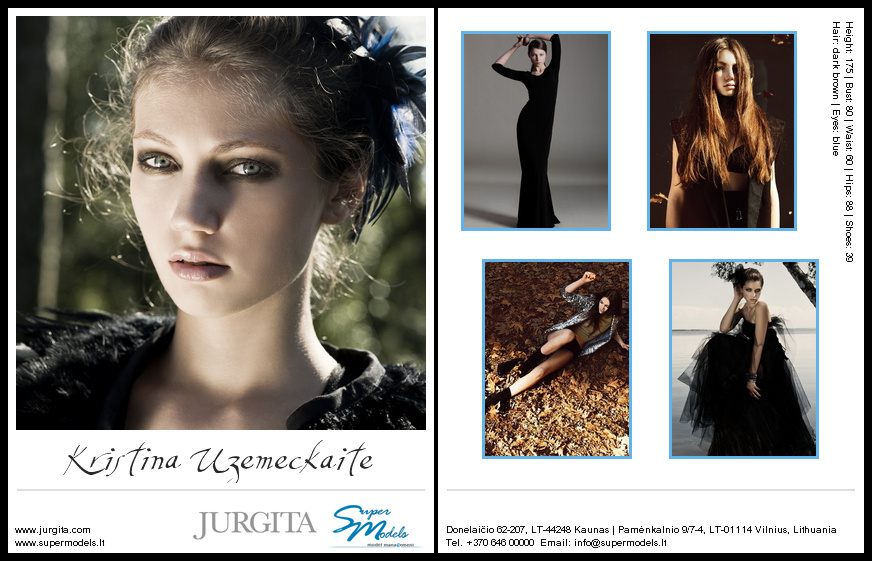 Kristina Uzemeckaite composite card