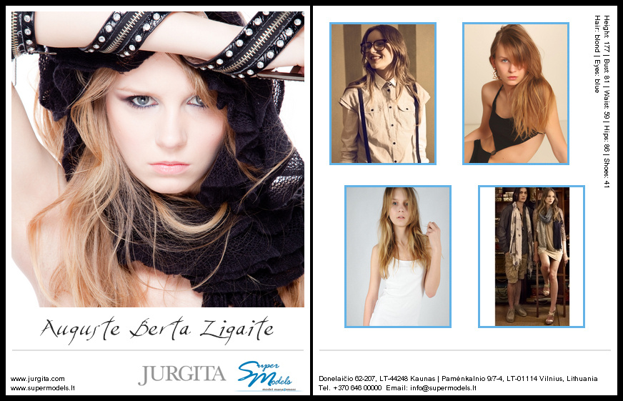 Augustė Berta Žigaitė composite card