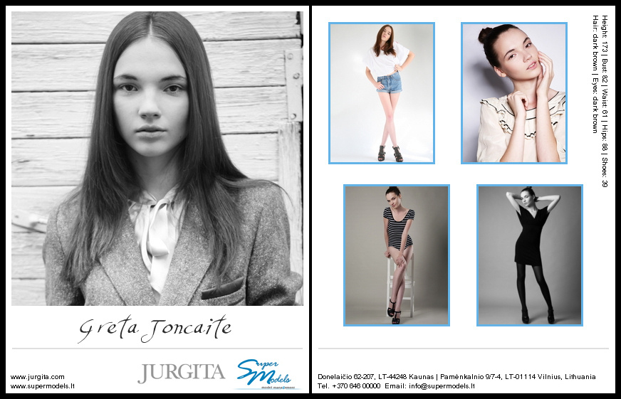 Greta Jončaitė composite card