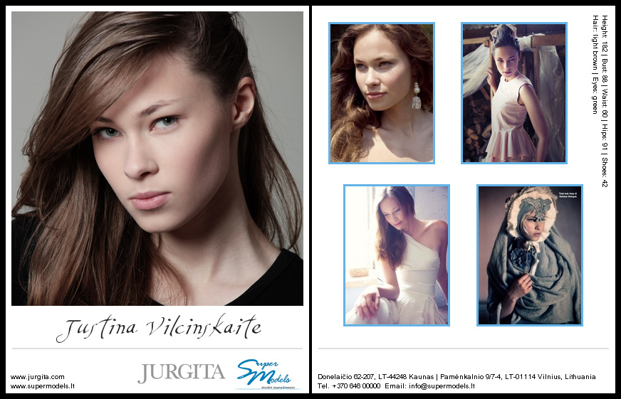 Justina Vilčinskaitė composite card