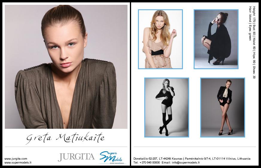 Greta Matiukaitė composite card