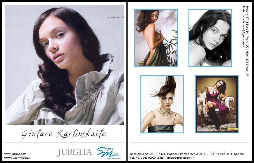 Gintare Karlinskaite composite card