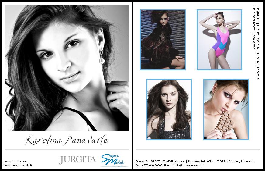 Karolina Panavaite composite card