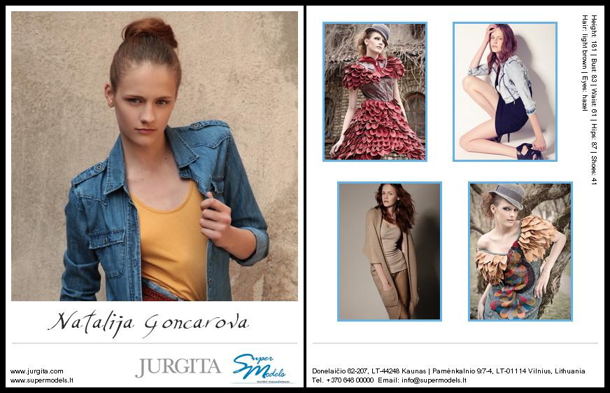 Natalija Goncarova composite card