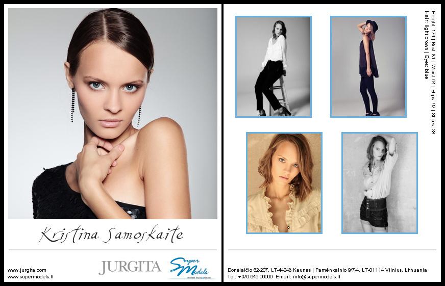 Kristina Samoškaitė composite card